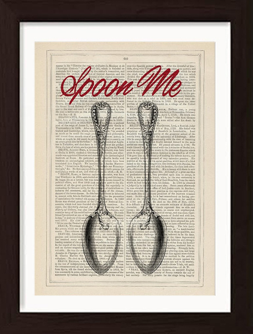 forgotten-pages-antique-book-page-spoon-me-love-valentines-day