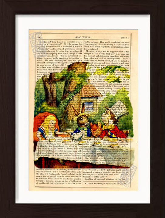 CANVAS OR PRINT WALL ART Alice In Wonderland Party