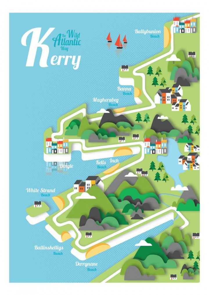 gary-reddin-print-kerry-ireland-map