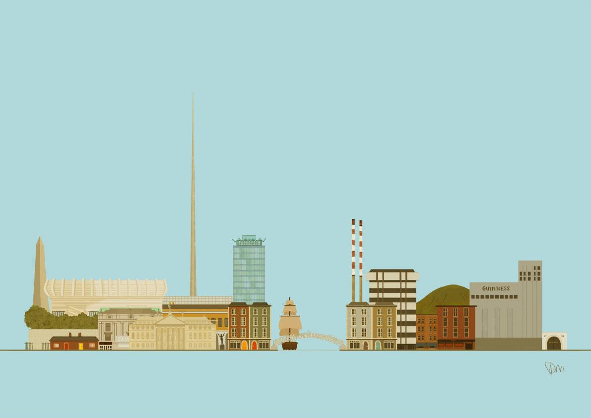 Dublin Skyline Jam Art Printsjam Art Prints