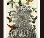 pat-byrne-print-on-vintage-book-page-hummingbirds-garden