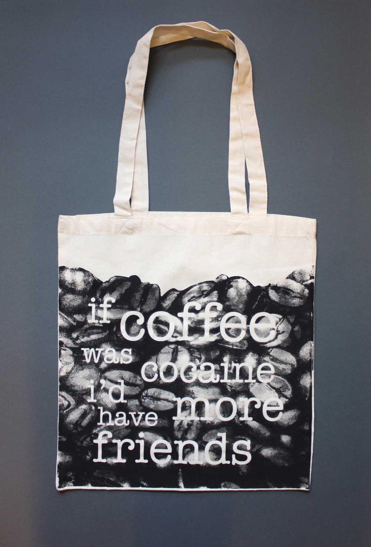 ffe98d3ef5 If Coffee... Screen Printed Tote Bag - Jam Art PrintsJam Art Prints
