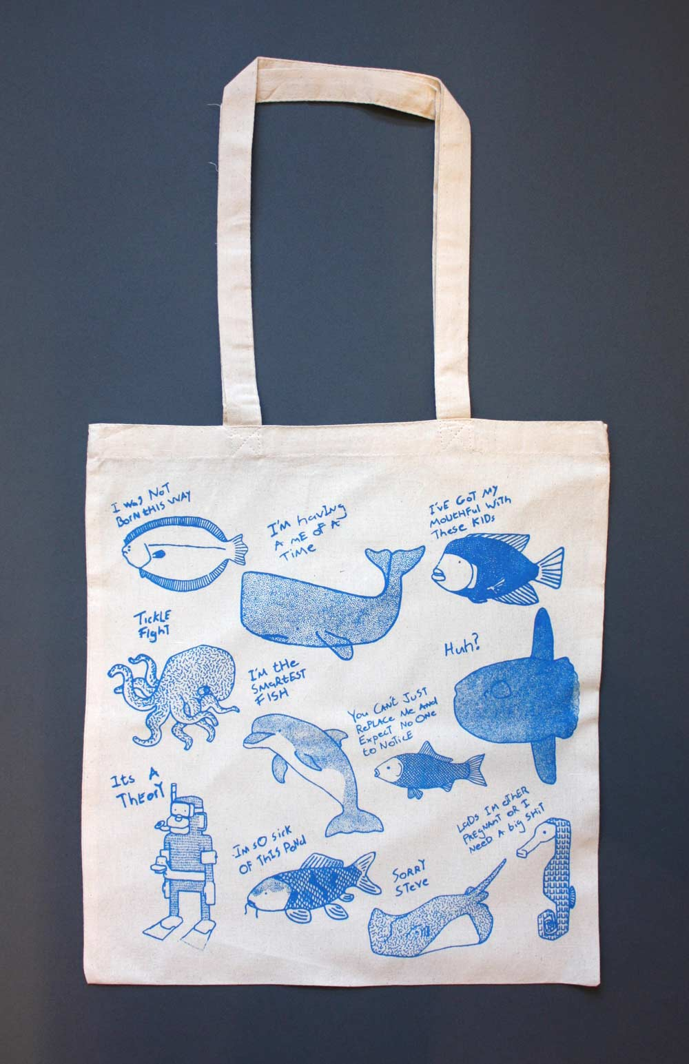 1f216d2d91be Sea Life - Hand Screen Printed Tote Bag - Jam Art PrintsJam Art Prints