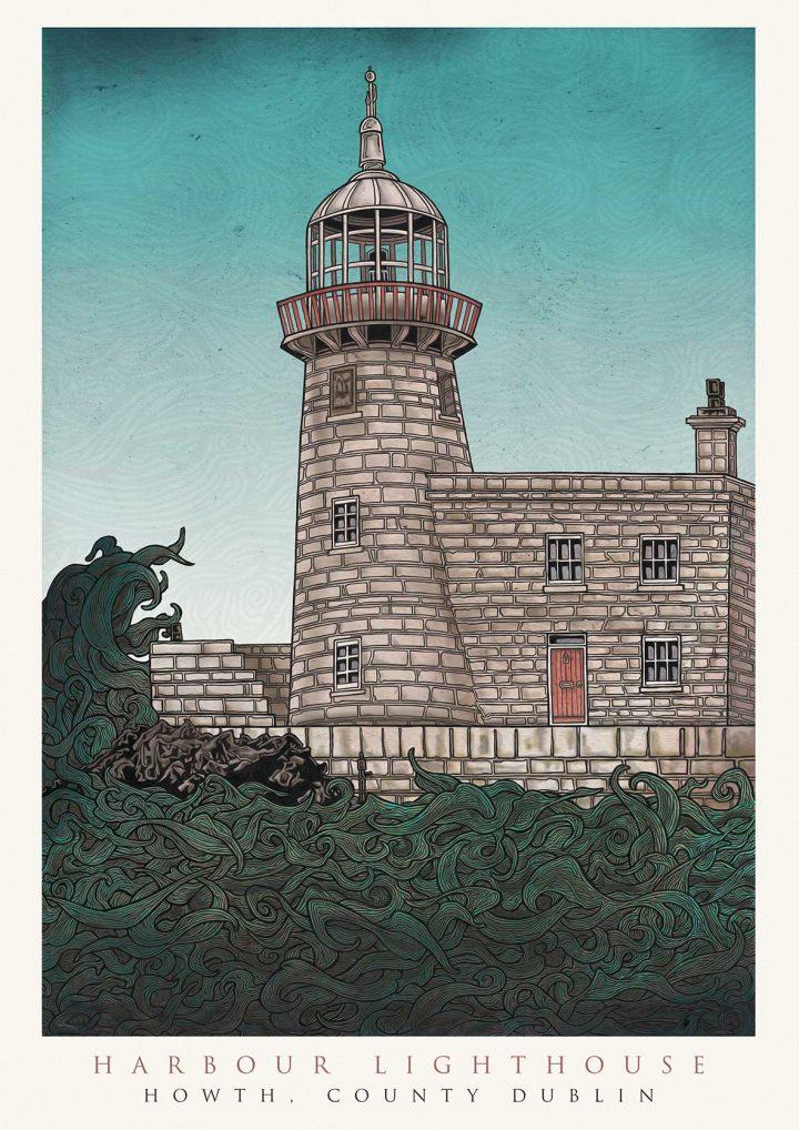 howth-dublin-lighthouse-print-jam-art-john-rooney