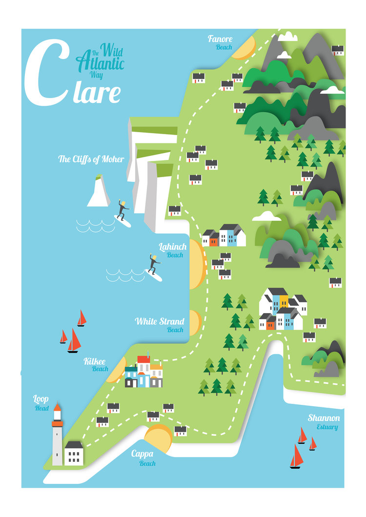 Map Of Ireland Doolin.Cliff Of Moher Ireland Map Best Cliff In The World 2018