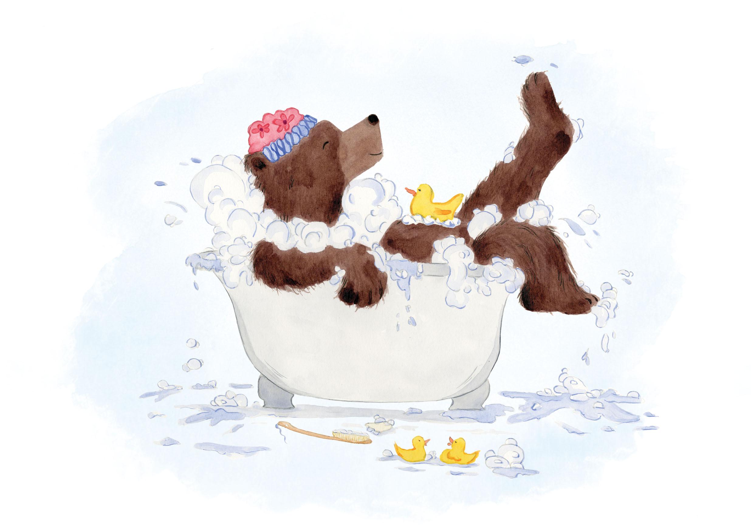 Bath Bear Baby Print